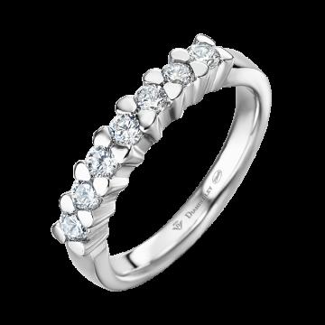 Anillo de oro blanco con diamantes 0,42 ct.