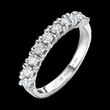 Anillo de oro blanco con diamantes 0,54 ct.