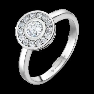Anillo de oro blanco con diamantes 0,41 ct.