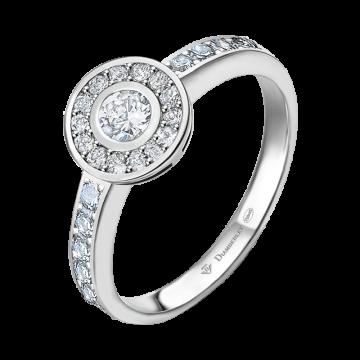 Anillo de oro blanco con diamantes 0,38 ct.
