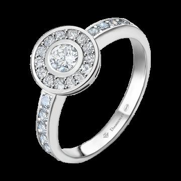 Anillo de oro blanco con diamantes 0,43 ct.