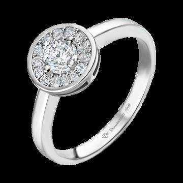 Anillo de oro blanco con diamantes 0,27 ct.
