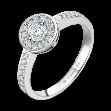 Anillo de oro blanco con diamantes 0,36 ct.