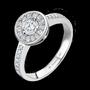 Anillo de oro blanco con diamantes 0,56 ct.