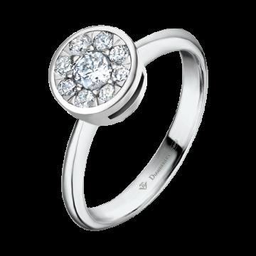 Anillo de oro blanco con diamantes 0,35 ct.