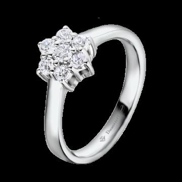 Anillo de oro blanco con diamantes 0,33 ct.