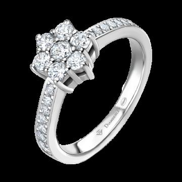 Anillo de oro blanco con diamantes 0,64 ct.