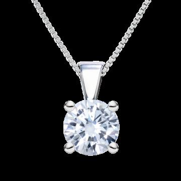 Colgante de oro blanco con diamante 0,20 ct.