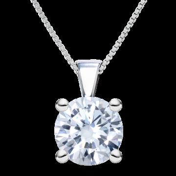 Colgante de oro blanco con diamante 0,35ct.