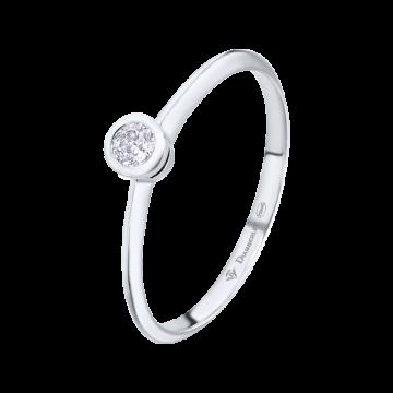 Anillo de compromiso oro blanco con diamante 0,08ct.