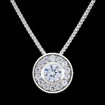 Colgante de oro blanco con diamantes 0,13 ct.