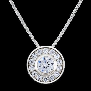 Colgante de oro blanco con diamantes 0,24 ct.