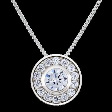 Colgante de oro blanco con diamantes 0,30 ct.