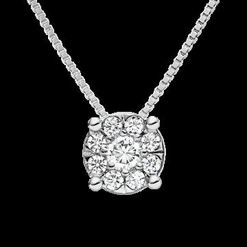 Colgante de oro blanco con diamantes 0,10 ct.