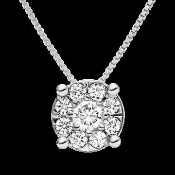 Colgante de oro blanco con diamantes 0,35 ct.