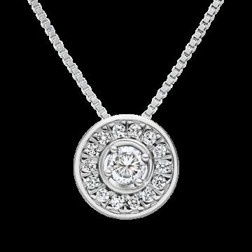 Colgante de oro blanco con diamantes 0,27 ct.