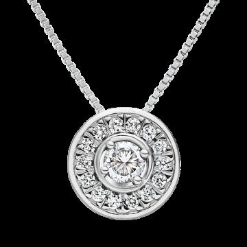 Colgante de oro blanco con diamantes 0,38 ct.
