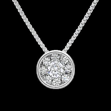 Colgante de oro blanco con diamantes 0,14 ct.