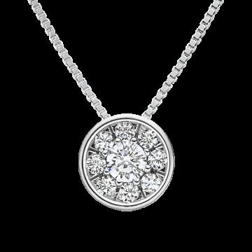 Colgante de oro blanco con diamantes 0,22 ct.