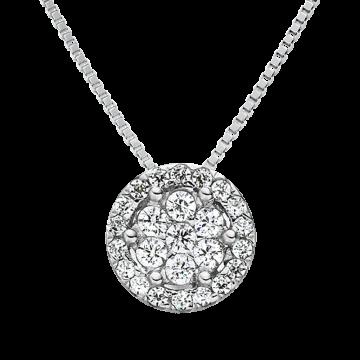 Colgante de oro blanco con diamantes 0,36 ct.