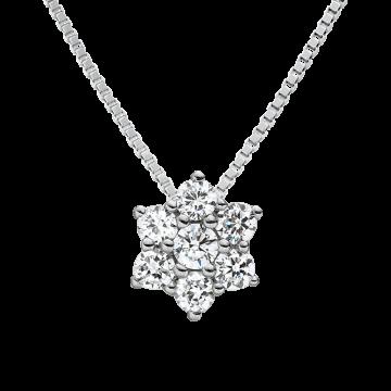 Colgante de oro blanco con diamantes 0,20 ct.