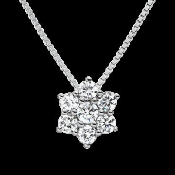 Colgante de oro blanco con diamantes 0,33 ct.