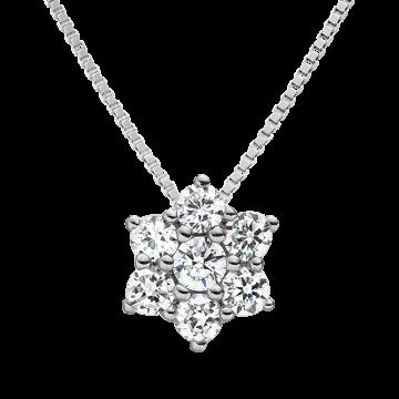 Colgante de oro blanco con diamantes 0,46 ct.