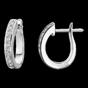 Pendientes de oro blanco con diamantes 0,33 ct.