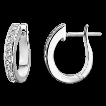 Pendientes de oro blanco con diamantes 0,45 ct.