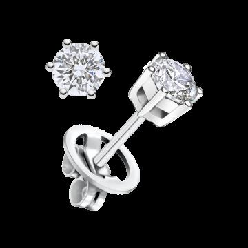 Pendientes de oro blanco con diamante 0,60 ct.