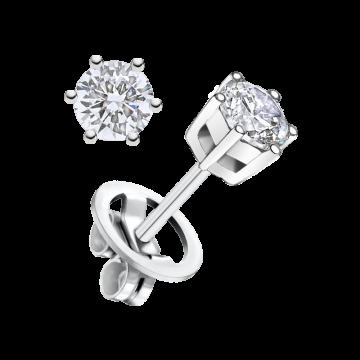Pendientes de oro blanco con diamante 0,70 ct.