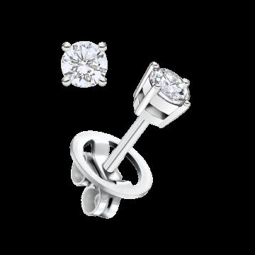 Pendientes de oro blanco con diamante 0,20 ct.