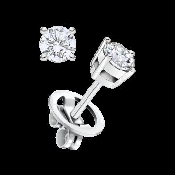 Pendientes de oro blanco con diamante 0,50 ct.