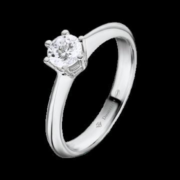 Anillo de compromiso oro blanco con diamante 0,35 ct.
