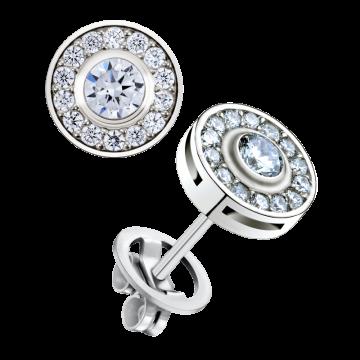 Pendientes de oro blanco con diamantes 0,82 ct.