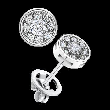 Pendientes de oro blanco con diamantes 0,70 ct.