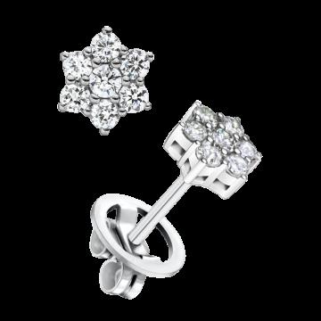 Pendientes de oro blanco con diamantes 0,66 ct.