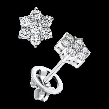 Pendientes de oro blanco con diamantes 0,92 ct.