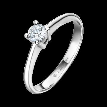 Anillo de compromiso oro blanco con diamante 0,30 ct.